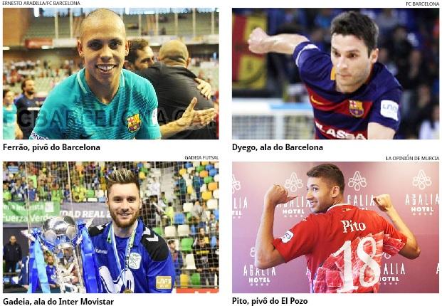 Quatro atletas do Oeste na seleção brasileira de futsal. Dois são de Chapecó b959a37653ef7
