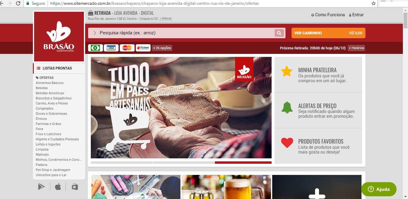 dee35e71b992f DI Online - Supermercado de Chapecó lança site para comprar online